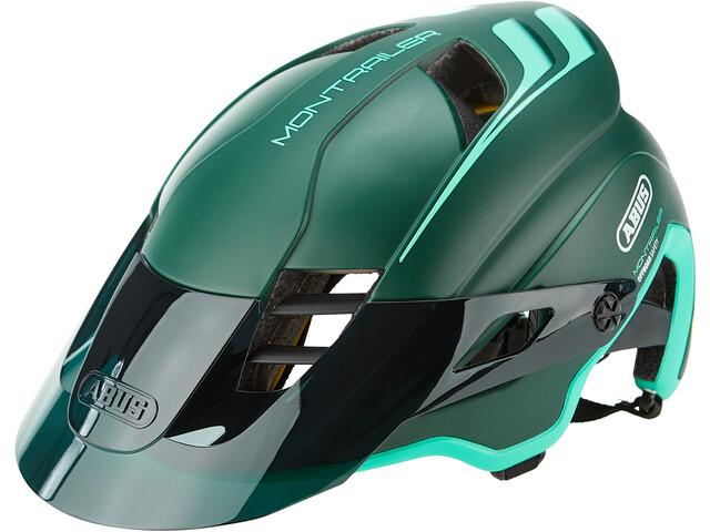 ABUS Montrailer MIPS Casco MTB, petrolio/verde